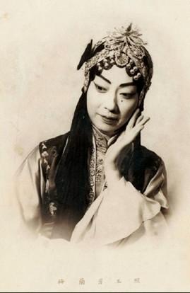 1940年代,梅兰芳戏装照。
