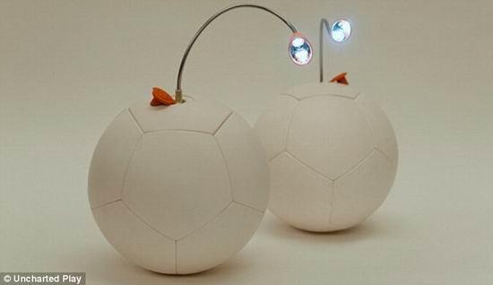 踢半个小时的足球便能照明LED灯3个小时