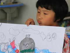 用五彩画笔绘出心中文明家园