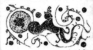 """汉代画像石""""嫦娥奔月"""""""