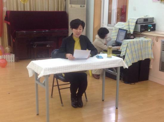 副园长黄姝介绍五条幼儿园特色活动