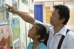 全国青少年书法美术大赛作品通榆展出