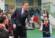 英国首相卡梅伦访问成都龙江路小学分校