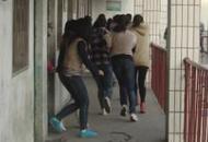 鹤壁市综合高中举行2013年防震消防逃生演练