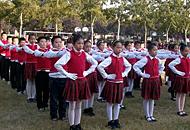 枣庄市中区建设路小学举行会操比赛