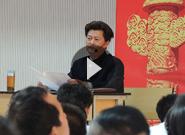 云南警官学院武术教授李德祥讲授理论课