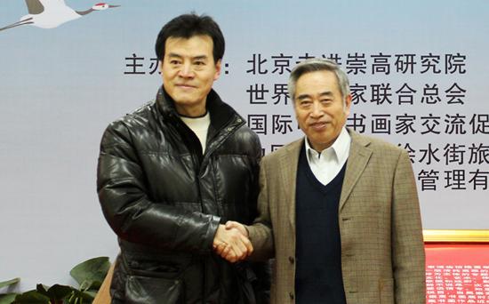毛吉成(左)与走进崇高研究院院长贺茂之(右)