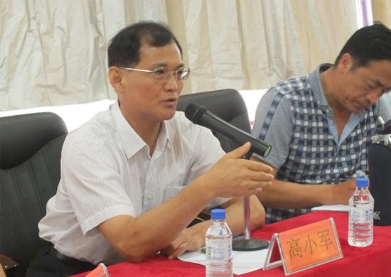 国家体育总局武管中心主任、中国武术协会主席高小军讲话