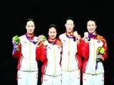 """中国代表团四枚""""90后""""夺得的金牌 贺少年英雄"""