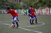 宝鸡市校园足球联赛激战 优胜队将参加冠军杯