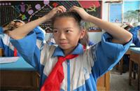 建工师第三中学在中小学生中积极推行新的眼保健操