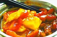 高校食堂推奇葩菜: 番茄炒菠萝(图)