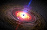 5亿光年远怪兽黑洞吞噬周围气体
