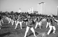 三届全国太极柔力球大赛:哈尔滨市聋哑人选手三次夺杯